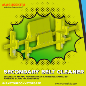 secondary belt cleaner